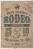 Manifesto americano del rodeo del cowboy royalty illustrazione gratis