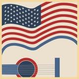 Manifesto americano di musica country Immagine Stock
