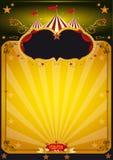 Manifesto arancione magico del circo. Immagine Stock