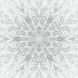 Manifesto astratto d'annata con monocromio nero su fondo bianco per progettazione decorativa sottragga la priorità bassa Modello  illustrazione di stock