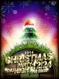 Manifesto astratto del partito di musica di Natale Fotografia Stock