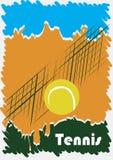 Manifesto astratto di tennis Fotografie Stock Libere da Diritti