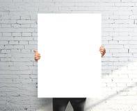 Manifesto in bianco Fotografia Stock
