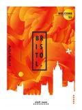 Manifesto BRITANNICO di vettore di pendenza della città dell'orizzonte del Regno Unito Bristol Fotografia Stock Libera da Diritti