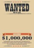 Manifesto carente dell'annata Fotografie Stock Libere da Diritti