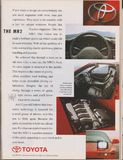 manifesto che annuncia l'automobile della seconda generazione W20 di Toyota MR2 in rivista dal 1992, slogan immagini stock