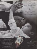 Manifesto che annuncia l'orologio di Patek Philippe Geneve in rivista dal 2005, mai non realmente possedete uno slogan di Patek P fotografia stock libera da diritti