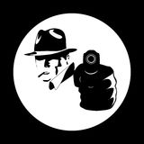 Manifesto comico del gangster Fotografie Stock