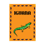 Manifesto creativo Iguana Fotografia Stock Libera da Diritti