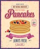 Manifesto d'annata dei pancake. Immagini Stock