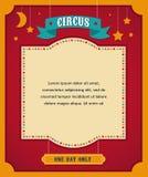 Manifesto d'annata del circo, fondo con il carnevale Fotografia Stock