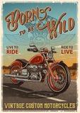 Manifesto d'annata del motociclo illustrazione di stock