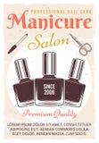 Manifesto d'annata del salone del manicure con smalto royalty illustrazione gratis