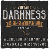 Manifesto d'annata del whiskey di oscurità Fotografia Stock