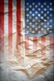 Manifesto d'annata della bandiera Fotografia Stock Libera da Diritti