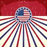 Manifesto d'annata della bandiera dell'America Fotografie Stock Libere da Diritti