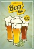 Manifesto d'annata della birra Fotografie Stock Libere da Diritti