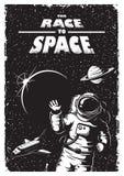 Manifesto d'annata dello spazio illustrazione di stock