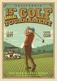 Manifesto d'annata di golf illustrazione vettoriale