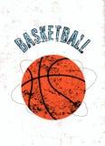 Manifesto d'annata di stile di lerciume di pallacanestro Retro illustrazione di vettore royalty illustrazione gratis