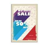 Manifesto d'annata di vendita, aletta di filatoio Fotografie Stock Libere da Diritti