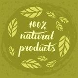 Manifesto dei prodotti naturali Fotografia Stock Libera da Diritti