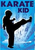 Manifesto del bambino di karatè. Vettore. Fotografia Stock