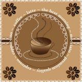 Manifesto del caffè fotografie stock