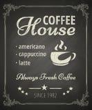 Manifesto del caffè Fotografia Stock Libera da Diritti