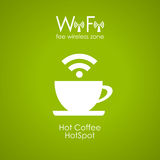 Manifesto del caffè di Internet Fotografie Stock