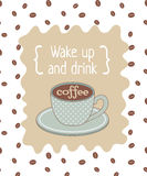Manifesto del caffè Fotografia Stock
