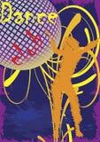 Manifesto del club di ballo Fotografia Stock Libera da Diritti