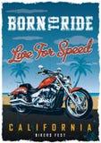 Manifesto del Fest dei motociclisti Fotografia Stock