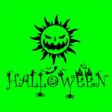 Manifesto del girasole di verde di Halloween royalty illustrazione gratis