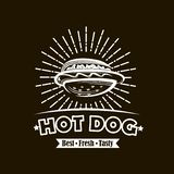 Manifesto del hot dog illustrazione di stock