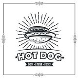 Manifesto del hot dog royalty illustrazione gratis