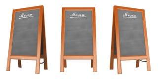 manifesto del menu dello spazio in bianco 3D Immagine Stock