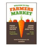 Manifesto del mercato degli agricoltori Immagini Stock