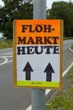 Manifesto del mercato di pulce Fotografia Stock Libera da Diritti