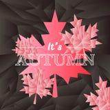 Manifesto del mosaico di tipografia di autunno di vettore nel nero Fotografia Stock Libera da Diritti