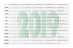 Manifesto 6000-4000 del paesaggio del pianificatore della parete Green-2019 fotografia stock