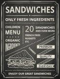 Manifesto del panino Immagini Stock