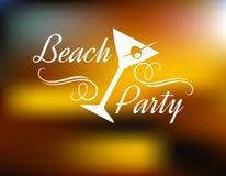Manifesto del partito della spiaggia Fotografie Stock