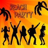 Manifesto del partito della spiaggia Immagini Stock