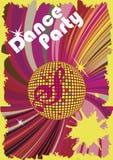Manifesto del partito di ballo Fotografia Stock