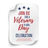 Manifesto del partito di giornata dei veterani Fotografia Stock