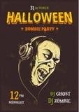 Manifesto del partito di Halloween Fotografia Stock