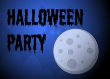 Manifesto del partito di Halloween Fotografie Stock