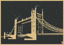 Manifesto del ponte della torre di Londra Royalty Illustrazione gratis