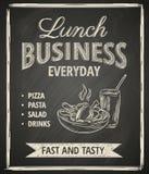 Manifesto del pranzo di lavoro Fotografia Stock